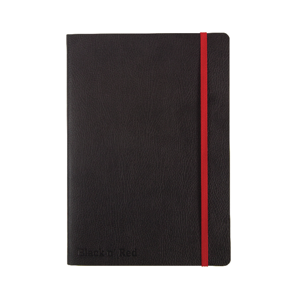 Black n Red A5 Black Soft Cover Notebook 400051204