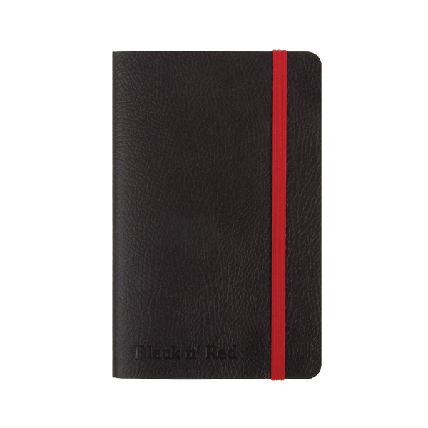 Black n Red A6 Black Soft Cover Notebook 400051205