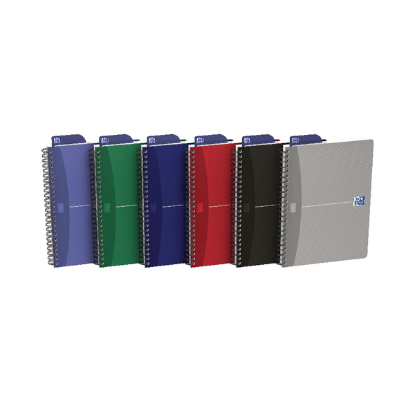 Oxford Office Essentials A5 Assorted Soft Cover Wirebound Notebook Pack of 5 100103741