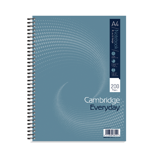 Cambridge Everyday A4 Plus Wirebound Notebook 200 Pages Pack of 3 100080433