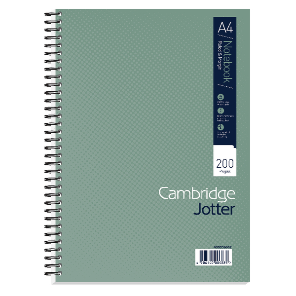Cambridge A4 Wirebound Notebook Ruled Margin 200 Pages Pack of 3 400039062