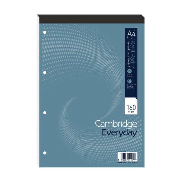 Cambridge Everyday A4 Refill Pad Narrow Ruled Margin (Pack of 5) 100080168