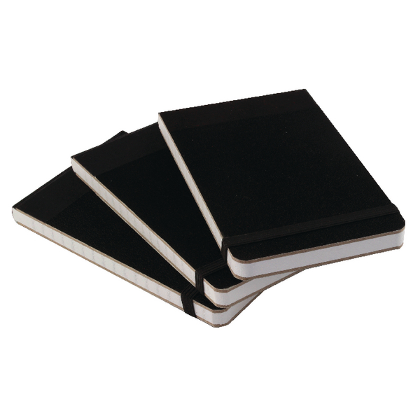 Cambridge Headbound Elasticated 76 x 127mm Black Notebook Pack of 10 100080057