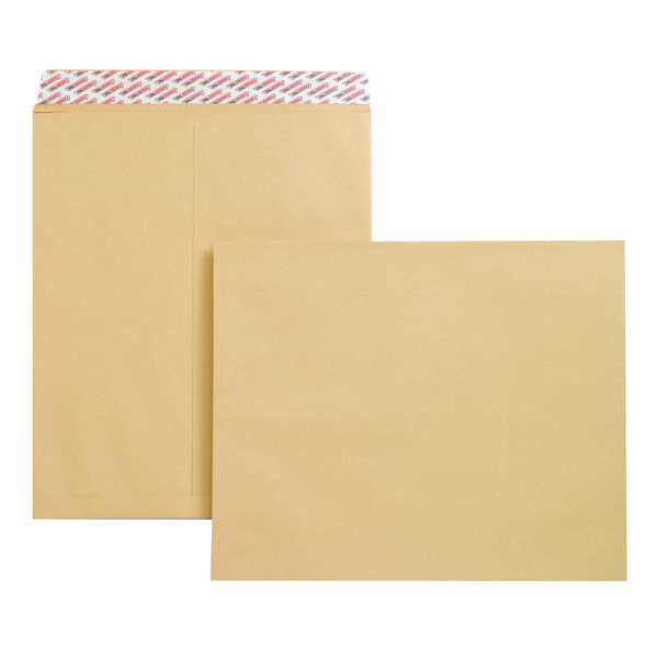New Guardian Envelope 444x368mm Heavyweight 130gsm Pocket Peel / Seal Manilla B27713 (Pack of 125