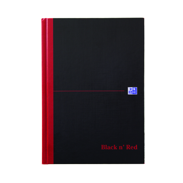 Black n Red A5 Casebound Hardback Single Cash Book Pack of 5 100080414