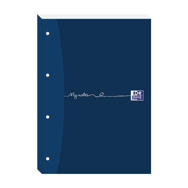 Oxford My Notes A4 Refill Pad Ruled Margin 200 Pages Sidebound Pack of 5 846400176