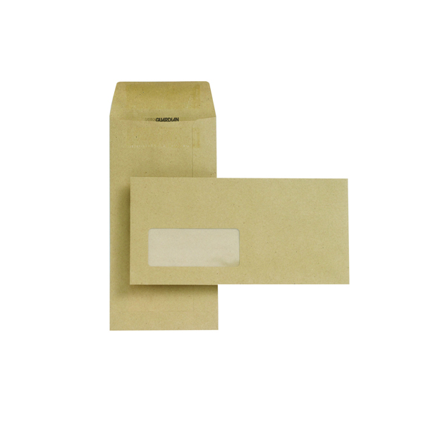 New Guardian DL Envelopes 80gsm Pocket Self Seal Window Manilla (Pack of 1000) D25311