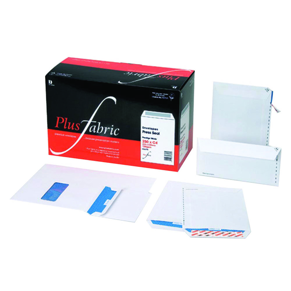 Plus Fabric C5 Envelopes Self Seal 110gsm White (Pack of 500) D26170