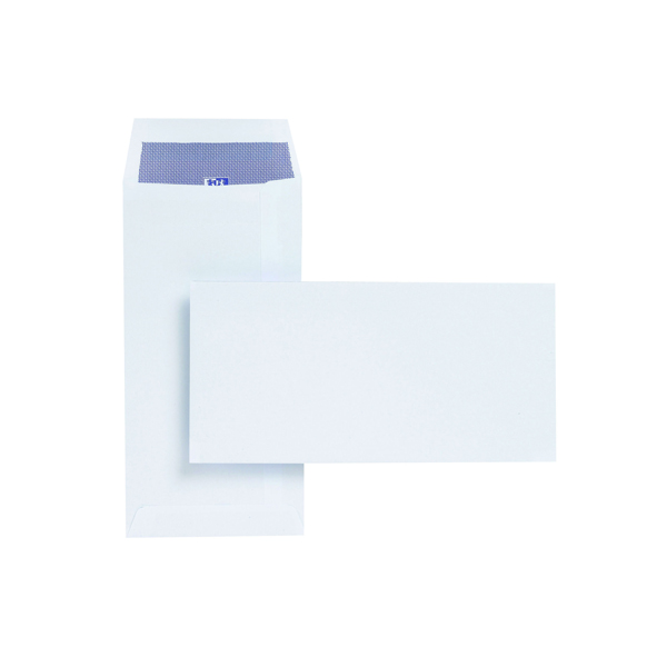 Plus Fabric DL Envelopes Pocket 120gsm Self Seal White (Pack of 500) E25770