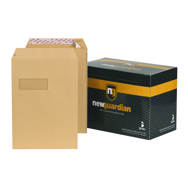 New Guardian C4 Window Envelopes 130gsm Manilla Peel and Seal (Pack of 250) F24203