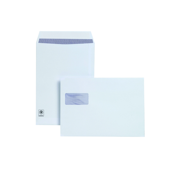 Plus Fabric C4 Window Envelopes 120gsm Peel and Seal White (Pack of 250) F28749