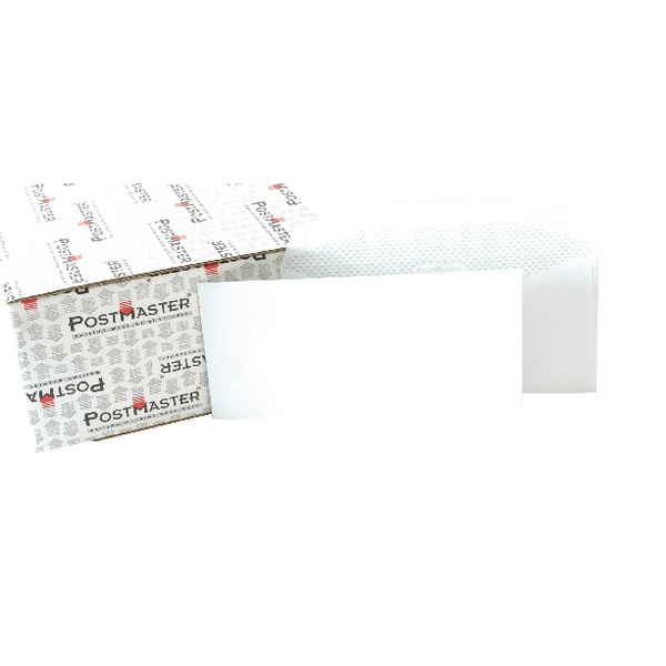 Postmaster Envelope 114x235mm 90gsm Gummed White (Pack of 500) F29151
