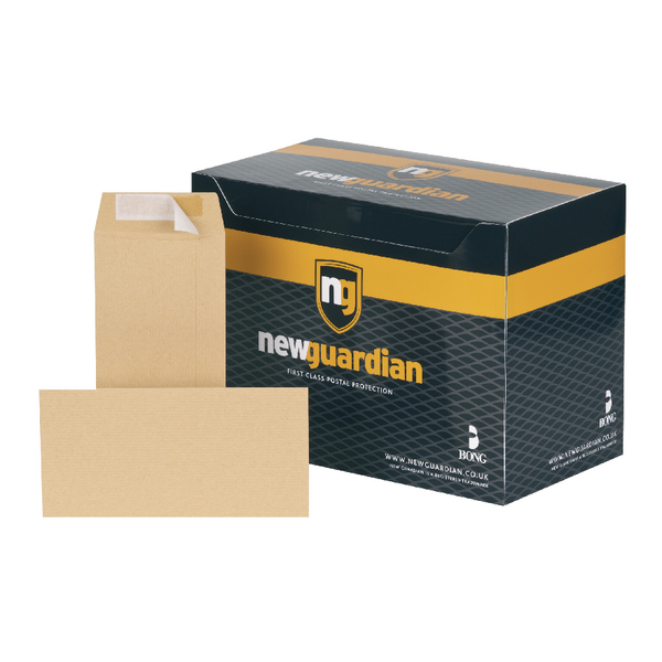 New Guardian DL Envelopes 80gsm Self Seal Manilla (Pack of 1000) H25411