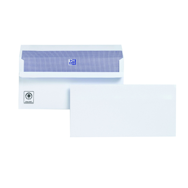 Plus Fabric DL Envelopes 120gsm Self Seal White (Pack of 500) H25470