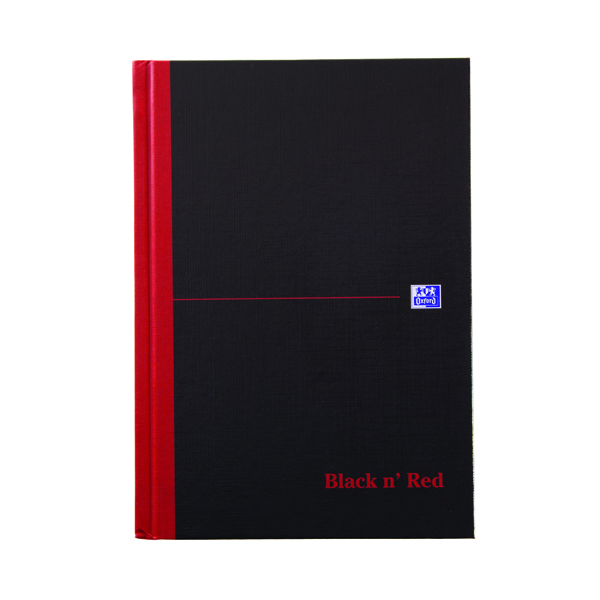 Black n Red A5 Casebound Hardback Notebook A-Z Index 192 Pages Pack of 5 100080491