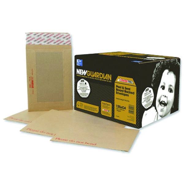 New Guardian Board Back C3 Envelope 130gsm Manilla Peel and Seal (Pack of 50) K27926
