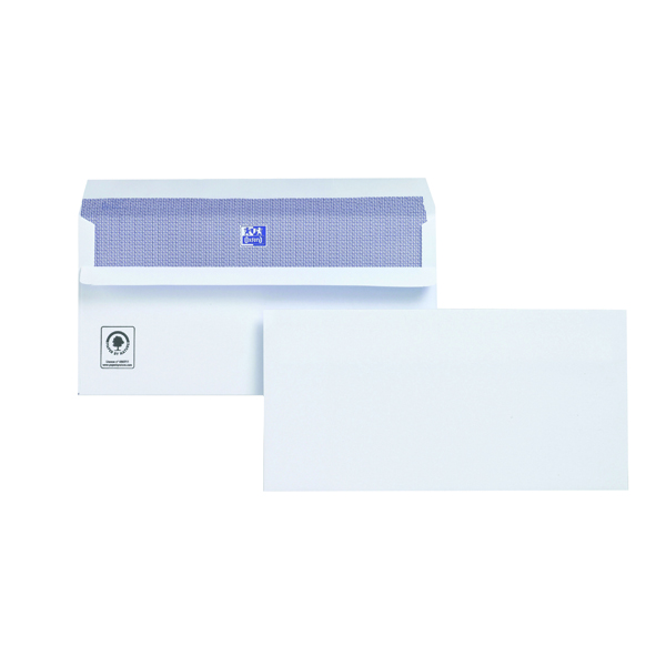 Plus Fabric DL Envelopes 110gsm Wallet Self Seal White (Pack of 250) M23270