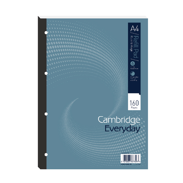 Cambridge Everyday A4 Refill Pad Ruled Margin Pack of 5 846200192