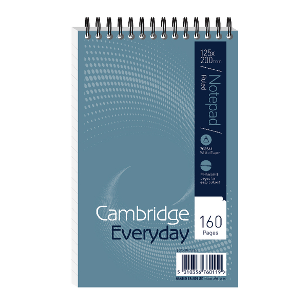 Cambridge Wirebound Notebook 125 x 200mm 160 Pages Ruled Pack of 10 846200078