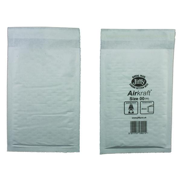 Jiffy 115x195mm White AirKraft Bag (Pack of 100) JL-00