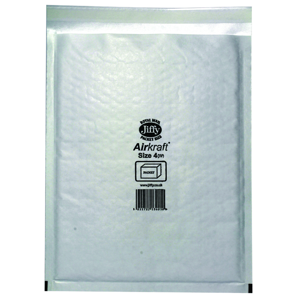 Jiffy 240x320mm White AirKraft Bag (Pack of 50) JL-4