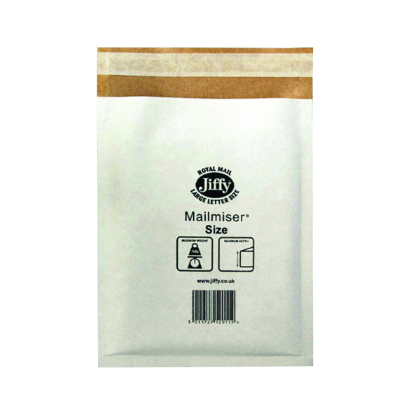 Jiffy Mailmiser Size 1 170x245mm White (Pack of 100) Jmm-WH-1