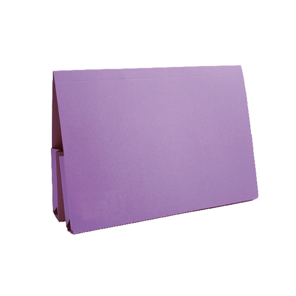 Guildhall Mauve Double Pocket Legal Wallet Foolscap (Pack of 25) 37214