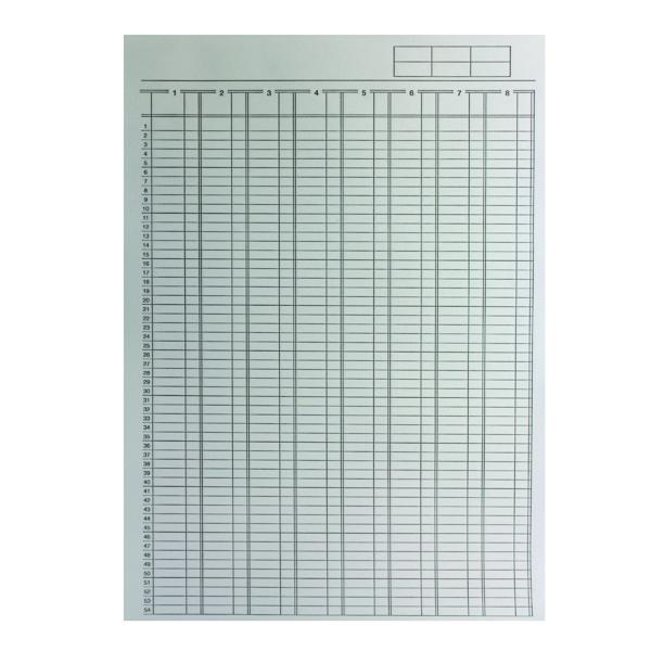 Q-Connect Analysis Pad 8 Column A4 KF01082