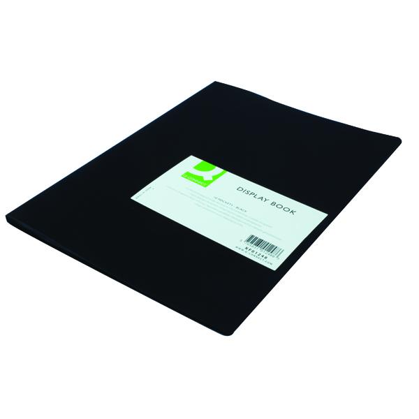 Q-Connect 10 Pocket Black Display Book KF01248