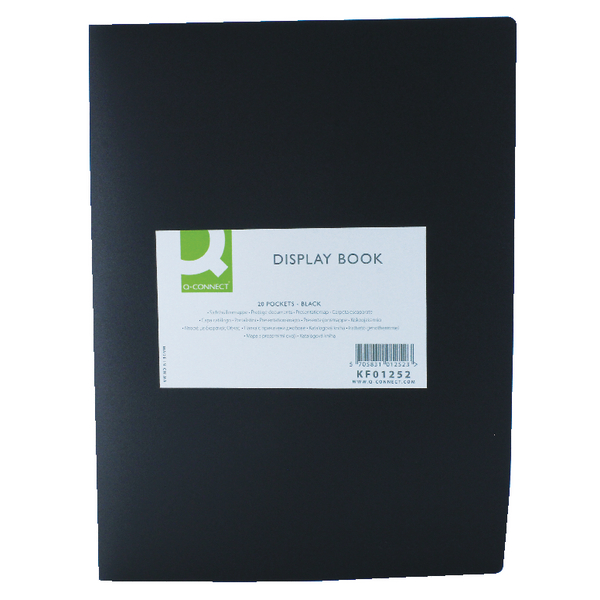 Q-Connect 20 Pocket Black Display Book KF01252