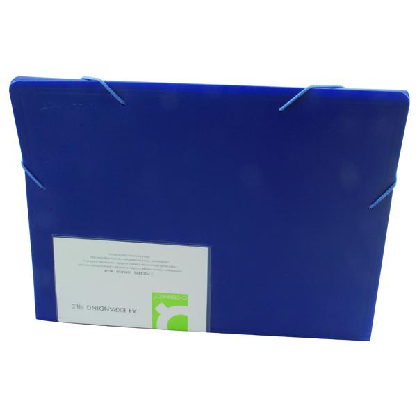Q-Connect 13-Pocket Blue Expanding File