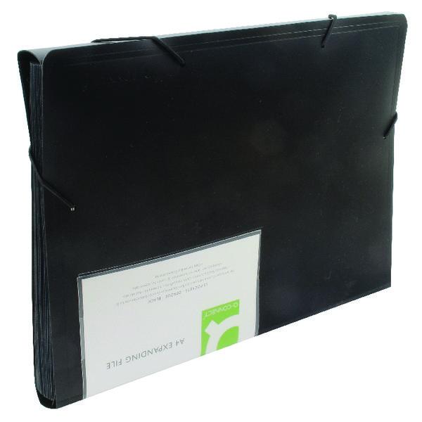 Q-Connect Expanding File 13-Pocket Black KF01276