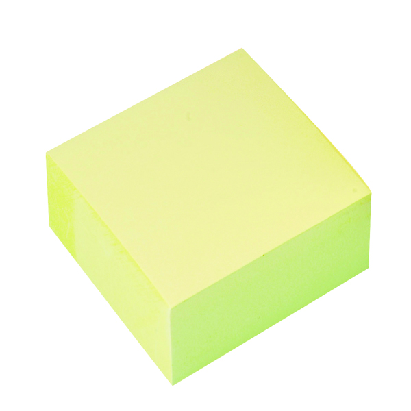 Q-Connect Quick Notes Cube 76 x 76mm Yellow KF01346