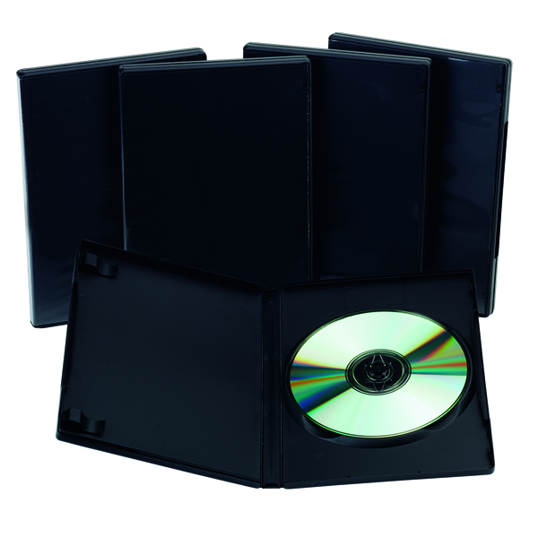 Q-Connect Black DVD Case - (Pack of 5)