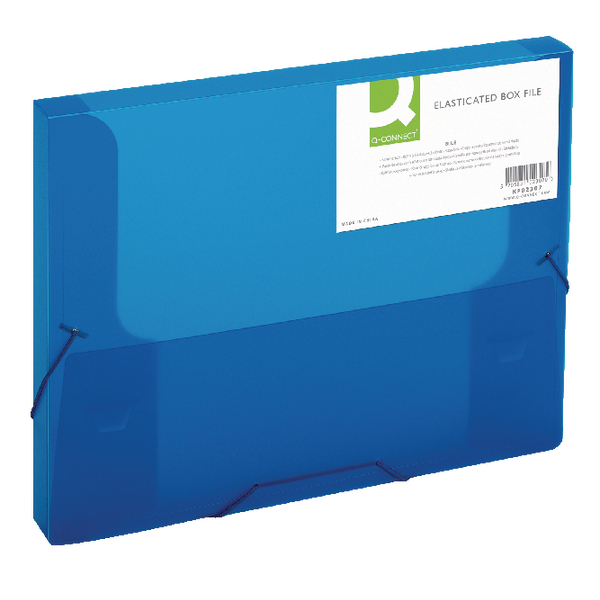 Q-Connect Elasticated Folder 25mm A4 Blue KF02307