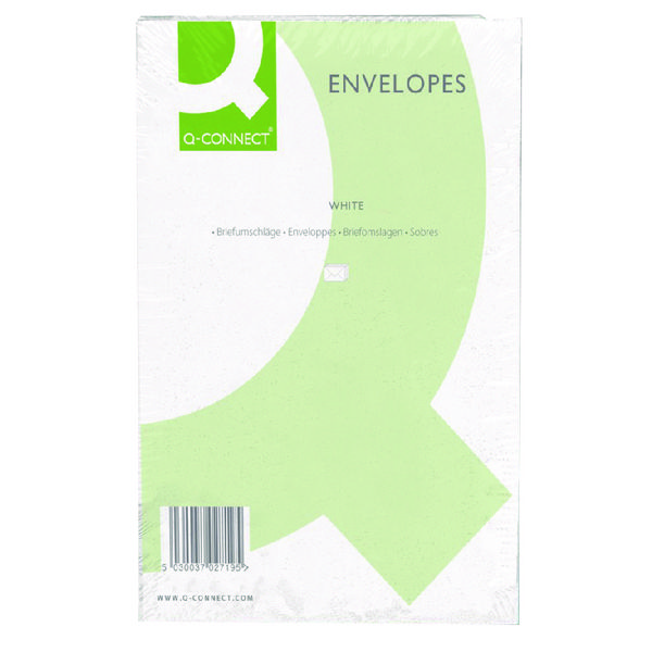 Q-Connect C4 Envelopes 100gsm Plain Peel and Seal White (Pack of 250) 1P27