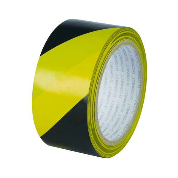 Catalogue - Vow Catalogue Q-Connect Yellow Black Hazard Tape (Pack of 6) KF04383