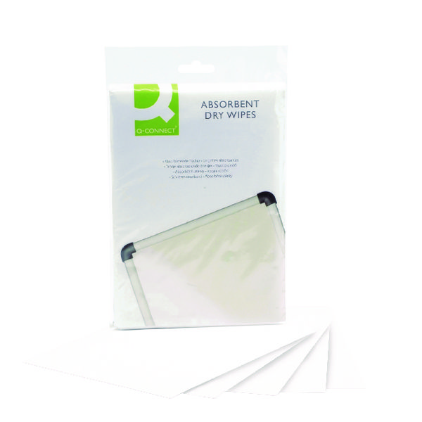 Q-Connect Lint Free Absorbent Wipes (Pack of 20) KF04506