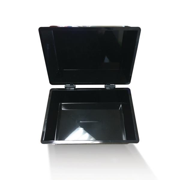 Q-Connect Black Card Index Box 6x4 Inches KF10010