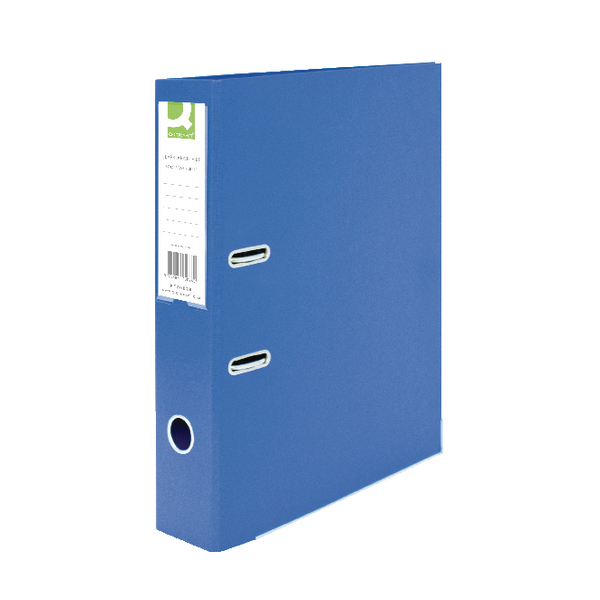 Q-Connect Polypropylene 70mm Blue Lever Arch Foolscap File (Pack of 10) KF20026