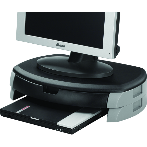 Q-Connect Monitor/Riser/Printer Stand/Drawer Black KF20081