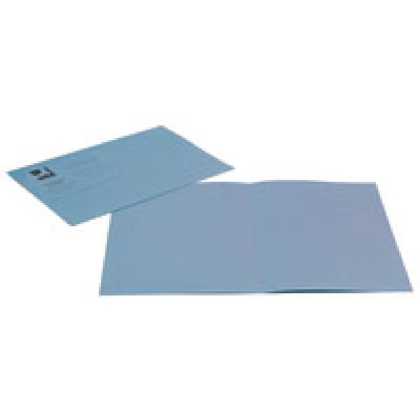 Q-Connect Blue Square Cut Folder Lightweight 180gsm Foolscap (Pack of 100) KF26033