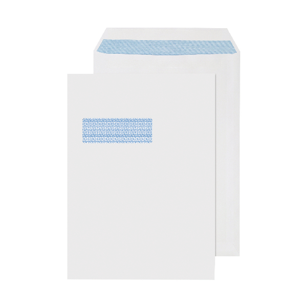 Q-Connect C4 Window Envelopes 90gsm Self Seal White (Pack of 250) 2907