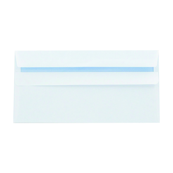 Q-Connect DL Envelopes 100gsm Self Seal Recycled White (Pack of 500) KF3504