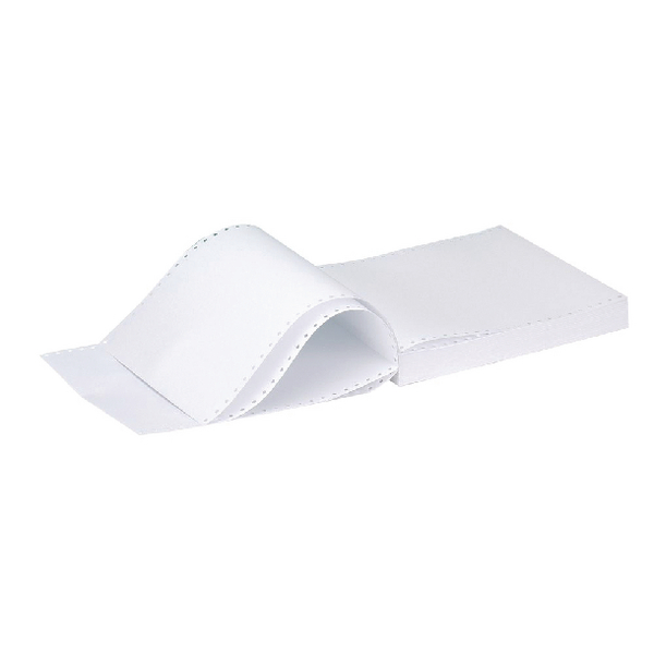 Q-Connect 11x9.5 Inches 1-Part 70gsm Plain Micro-Perforated Listing Paper (Pack of 2000) C17MP