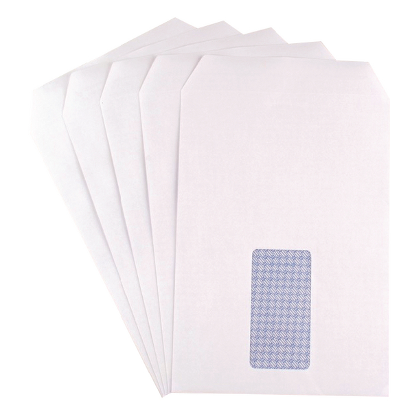 Q-Connect C5 Window Envelopes 90gsm Self Seal White (Pack of 500) 9000020