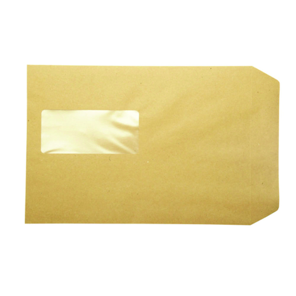 Q-Connect Pocket C5 Window Envelopes 115gsm Manilla Peel and Seal (Pack of 500) KF97370