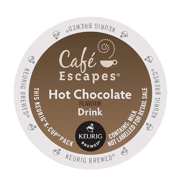 Cafe Escapes Hot Chocolate Flavour Drink Pods (Pack of 24) 93-070201