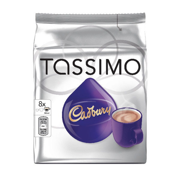 Catalogue - Babcock Vow Catalogue Tassimo Cadbury Hot Chocolate 240g Capsules (5 Packs of 8) 131270