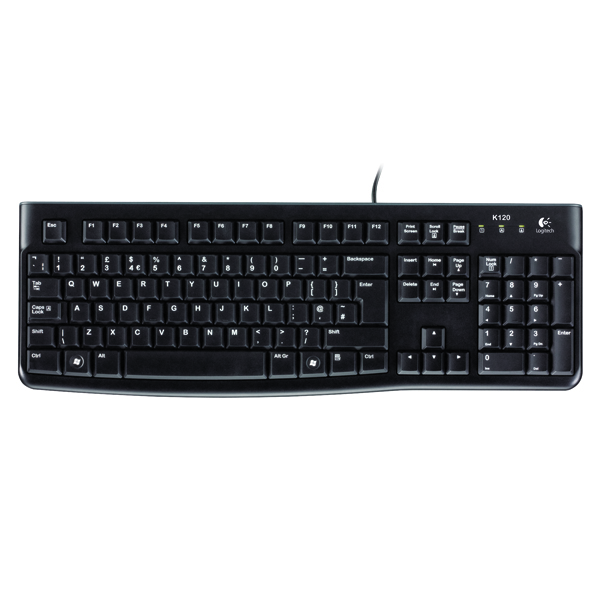 Logitech K120 Business Wired Keyboard Black 920-002524